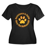 Bullmastiff Women's Plus Size Scoop Neck Dark T-Sh