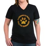 Bullmastiff Women's V-Neck Dark T-Shirt