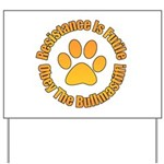 Bullmastiff Yard Sign