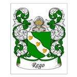 Rego Family Crest Small Poster