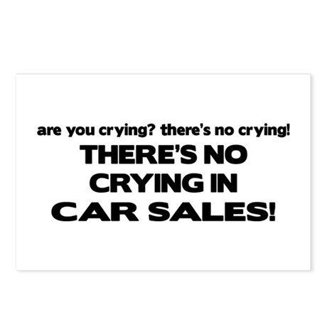 There's No Cyring in Car Sales Postcards (Package