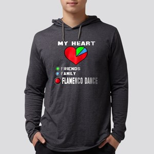 My Heart Friends, Family, Flamen Mens Hooded Shirt