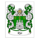 Rio Family Crest Small Poster