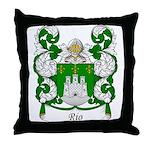 Rio Family Crest Throw Pillow