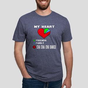 My Heart Friends, Family, C Mens Tri-blend T-Shirt