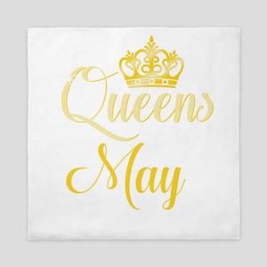 Queens are Born in May Women Girl Birt Queen Duvet