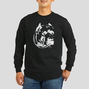 pit bull head design 1 Long Sleeve Dark T-Shirt
