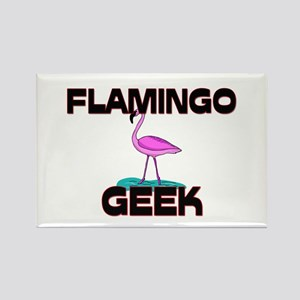 Flamingo Geek Rectangle Magnet