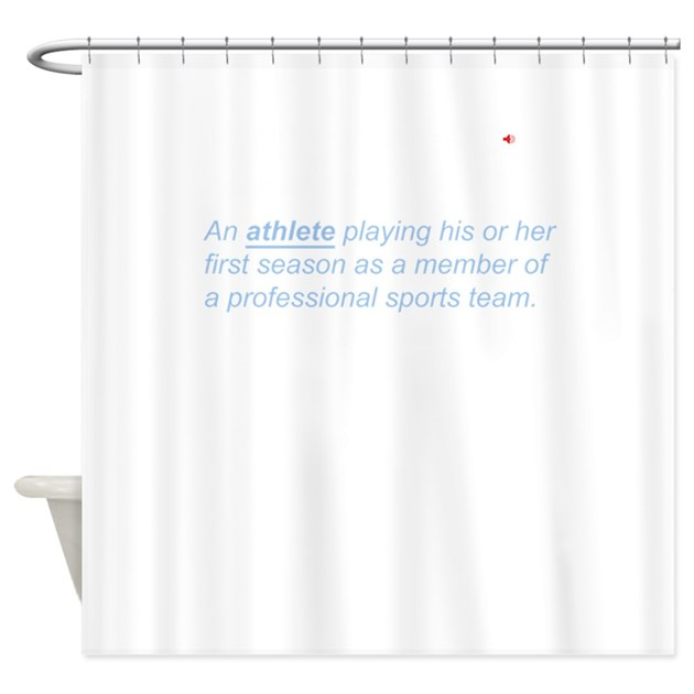 Rookie Definition Athlete Athletic Shower Curtain By