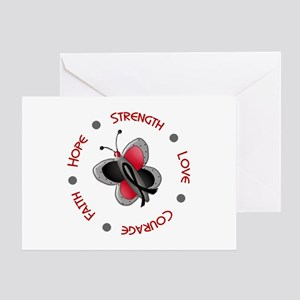 Hope Courage 1 Butterfly 2 MELANOMA Greeting Card