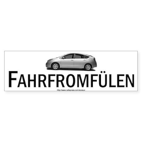 Toyota Prius Hybrid: Fahrfromfülen Sticker (Bumpe