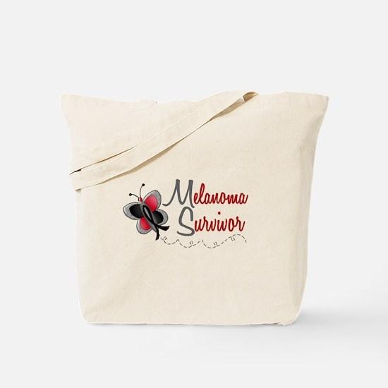 Melanoma Survivor 1 Butterfly 2 Tote Bag
