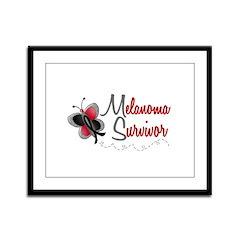Melanoma Survivor 1 Butterfly 2 Framed Panel Print