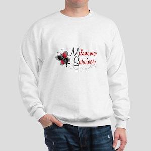 Melanoma Survivor 1 Butterfly 2 Sweatshirt