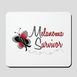 Melanoma Survivor 1 Butterfly 2 Mousepad