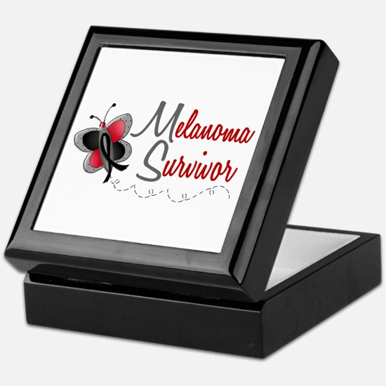 Melanoma Survivor 1 Butterfly 2 Keepsake Box