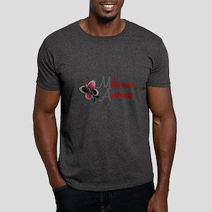Melanoma Awareness 1 Butterfly 2 Dark T-Shirt