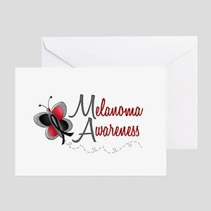 Melanoma Awareness 1 Butterfly 2 Greeting Card