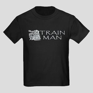 Train Man Kids Dark T-Shirt
