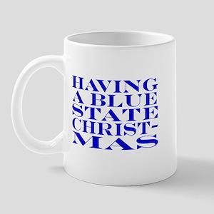 Blue State Christmas Mug
