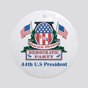 Obama: 44th U.S President Ornament (Round)