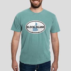 Block Island RI - Oval Design. T-Shirt