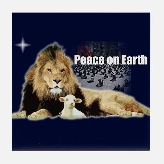 Peace on Earth for the Religi Tile Coaster