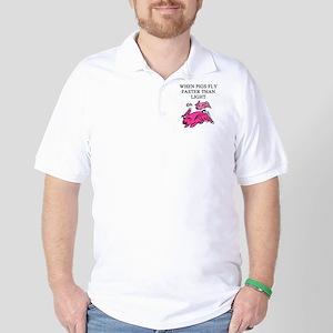 flying pig physics Golf Shirt