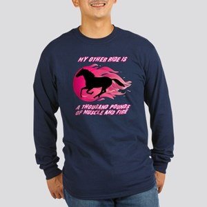 My Other Ride Is A Horse Long Sleeve Dark T-Shirt