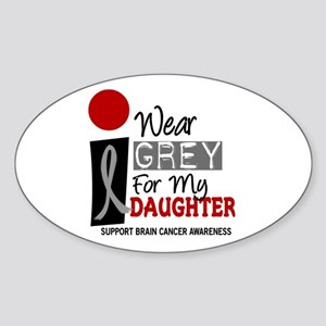 I Wear Grey For My Daughter 9 Oval Sticker