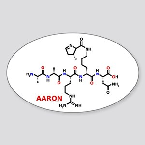 Aaron name molecule Oval Sticker