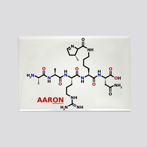 Aaron name molecule Rectangle Magnet