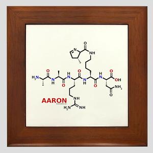 Aaron name molecule Framed Tile