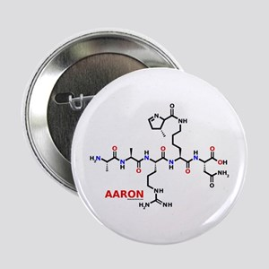"Aaron name molecule 2.25"" Button"