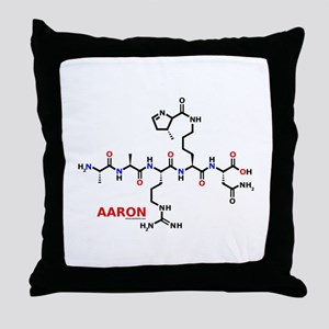 Aaron name molecule Throw Pillow