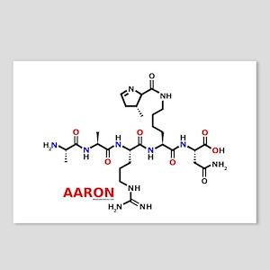 Aaron name molecule Postcards (Package of 8)