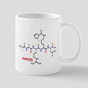 Aaron name molecule Mug