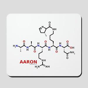 Aaron name molecule Mousepad