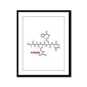 Aaron name molecule Framed Panel Print