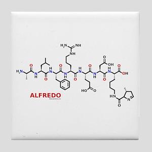 Alfredo name molecule Tile Coaster
