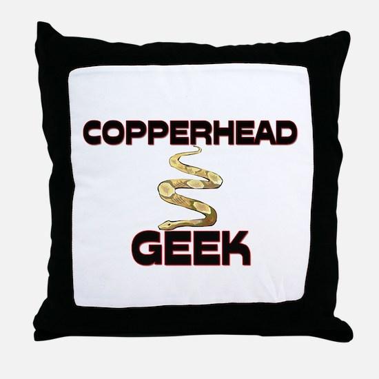Copperhead Geek Throw Pillow