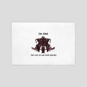 Psychiatry I'm Fine the Rest of Yo 4' x 6' Rug