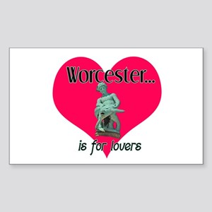 Turtleboy Worcester is for Lovers Sticker (Rectang