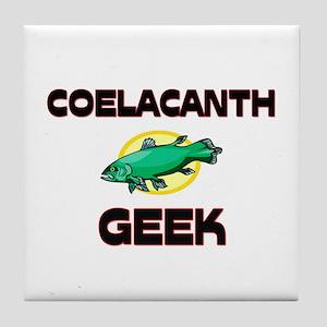 Coelacanth Geek Tile Coaster
