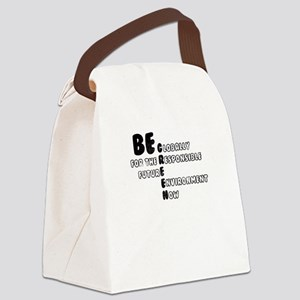 Globally Responsible for Future N Canvas Lunch Bag