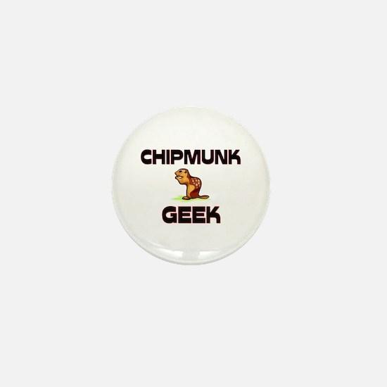 Chipmunk Geek Mini Button