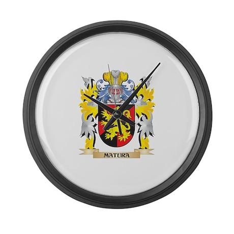 Matura Coat of Arms - Family Cres Large Wall Clock