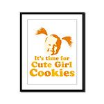 Cute girl Framed Panel Print
