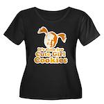 Cute girl Women's Plus Size Scoop Neck Dark T-Shir
