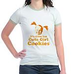Cute girl Jr. Ringer T-Shirt